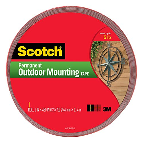 (Scotch Permanent Outdoor Mounting Tape, 1 Inch x 450 Inches (4011-LONG))