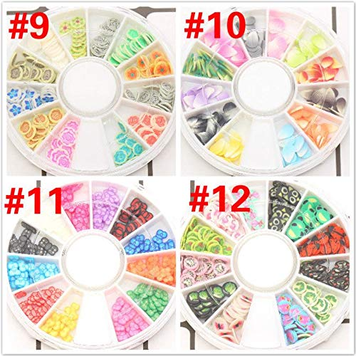 lumos80 Polymer Clay Slices Wheel, Fimo Slices for Slime Supplies and Nail Art Nail Decor (#12 Animal) by astor_farm
