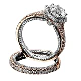 Rings for Women,Ladies Diamond Vintage Rose Gold Filled Ring Wedding Bridal Jewelry Yamally (7, Rose Gold)
