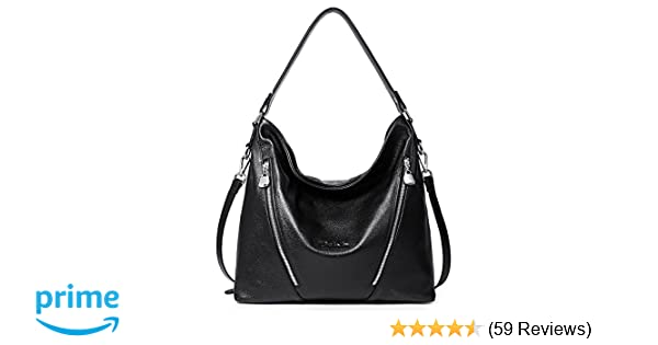 6d28219a2643 Amazon.com  BOSTANTEN Women Leather Handbag Designer Large Hobo Purses  Shoulder Bags Black  Shoes