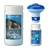 Happy Hot Tubs * The Bromine Starter Kit* Includes Bromine Tablets 1kg, Test Strips And Dispenser Hot tub Spa Tubs Swimming Pool