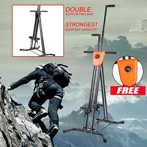 Vertical Climber with Cast Iron Frame and Digital Display As Seen On TV | Full Total Body Workout Fitness Folding Cardio Climber Exercise Machine (2 Extra Resistance Straps Included) by OUTAD (Image #1)
