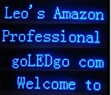 go LEDgo com LED Banner, One Blue color Moving Message sign, Scrolling Programmable, Utra Thin and light weigh, CableLess USB Memory Control, Size:38''x6.5''x1.2'', (Design and Prouced by goLEDgo com+ banner02b office sign