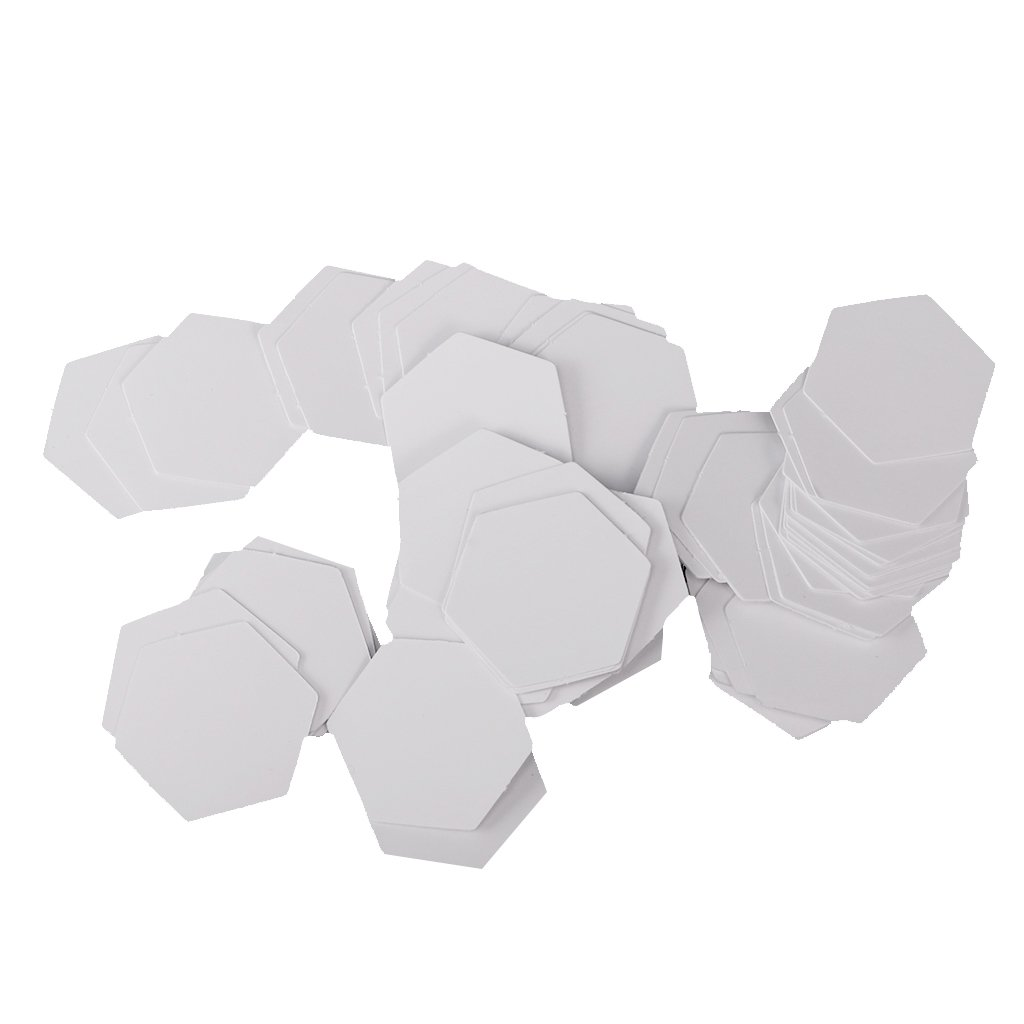 perfk 100 Pieces Hexagon Shape Paper Quilting Templates Paper Patchwork Templates Multi-sizes - 8mm