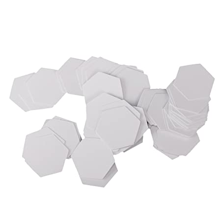 MagiDeal 100 Pieces Hexagon English PAPER PIECING Quilting Templates ...