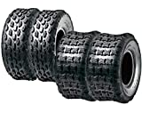 SunF Set of 4 Sport ATV Tubeless Tires 19x7-8 Front & 18x9.5-8 Rear, 4 Ply
