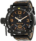 Invicta Men's 7271 Signature Black Dial Black Leather Watch