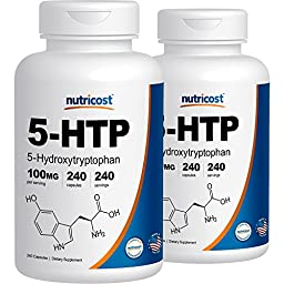 Nutricost 5-HTP 100mg; 240 Capsules (2 Bottles)