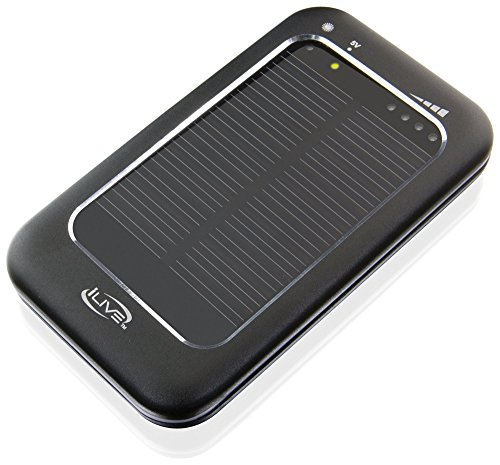 (iLive Solar Powered Charger For Universal Smartphones and Tablets, Black (WP662B))