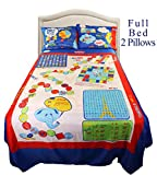 Boys Playtime Bed Sheets Full (Set of 4) – Smart Bed Sheets, Over 50 interactive Fun Games