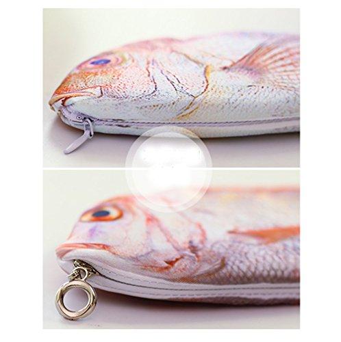 Rising sun crucian carp fish pencil case pen pouch for Realistic fish pencil case