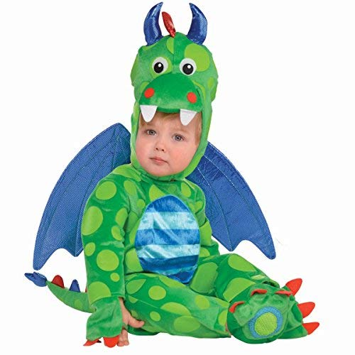 Deluxe 5 Piece Magic Dragon Costume with Wings (6-12 -