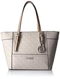 GUESS Delaney Small Classic Tote-Nude