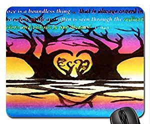 Shaped Heart Tree Mouse Pad, Mousepad (10.2 x 8.3 x 0.12 inches)