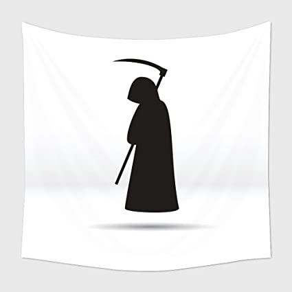 amazon com home decor tapestry wall hanging silhouette of the grim