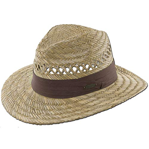 (Panama Jack Safari Straw Hat - Lightweight, 3