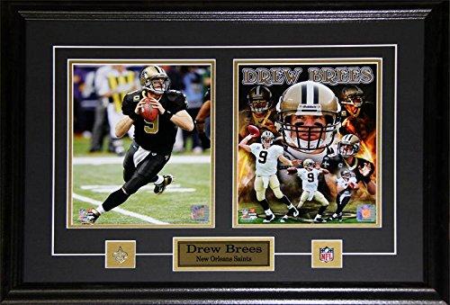 Drew Brees New Orlean Saints 2 Photo NFL Football Memorabilia Collector Frame