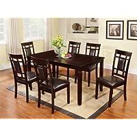 GTU Furniture 7-piece Dark Cappuccino Finish High-grade Dining Room/ Kitchen Table Set