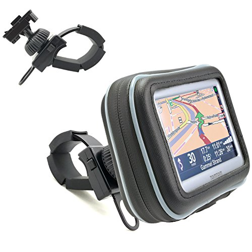 550 Motorcycle Mount - ChargerCity Water Resistant XL Bike Motorcycle Bar GPS Mount for 4.3 5
