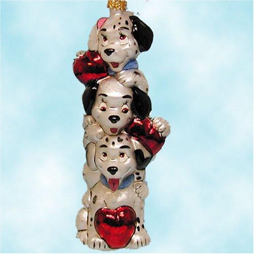 1997 Walt Disney World Christopher Radko 101 Dalmatians Puppy Pole Polish Glass LTD 5000 Ornament MWT - Mib Glasses