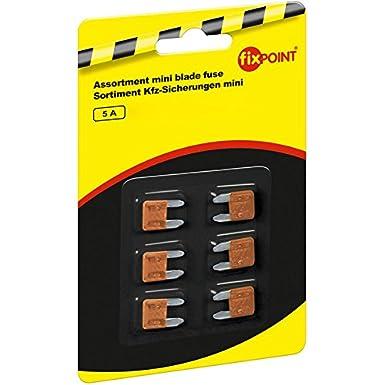 5A Orange Fixpoint 6 Assortiment de minis fusibles