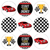 Race Car Party Favor Stickers, 180 Count