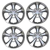 #7: TuningPros WSC3-616S17 4pcs Set Snap-On Type (Pop-On) 17-Inches Metallic Silver Hubcaps Wheel Cover