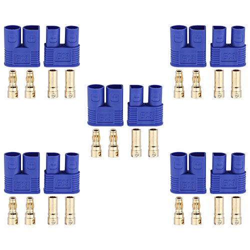 5 Sets HobbyPark EC3 Connector 3.5mm Gold Bullet Banana Plug Female Male RC ESC LIPO Battery Electric Motor Airplane Quadcopter Parts (Electric Airplane Motors)