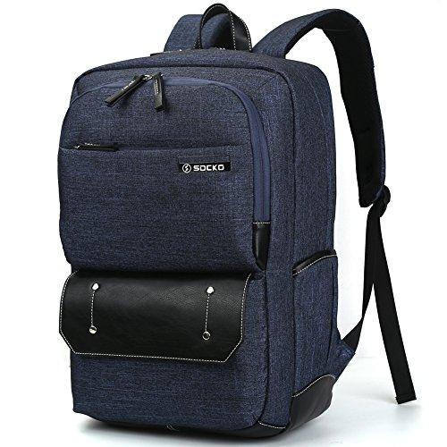 Brinch Laptop-Rucksack für Business Reisen Wandern Studium Schule, für 10-17,3Zoll Laptops (25,4-43,9cm) Laptop/Notebook/Macbook/Chromebook/Tablet-Computer Blau Jean Blue 17 zoll
