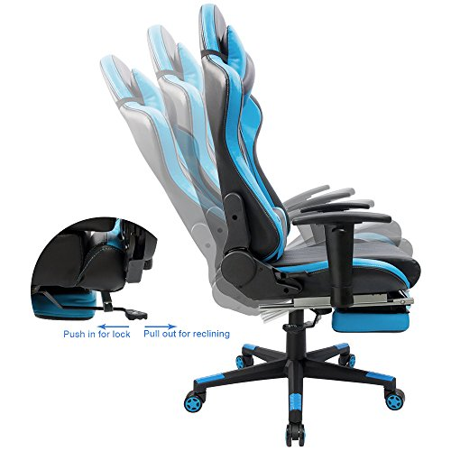 Magnificent Furmax Gaming Chair High Back Racing Chair Ergonomic Swivel Computer Chair Executive Pu Leather Desk Chair With Footrest Bucket Seat And Lumbar Ncnpc Chair Design For Home Ncnpcorg