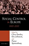 img - for Social Control in Europe, Vol. 2: 1800-2000 (History of Crime and Criminal Justice) book / textbook / text book