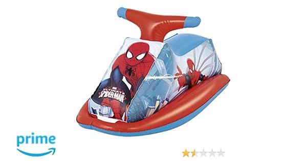 Moto hinchable para niños Bestway Spiderman: Amazon.es ...