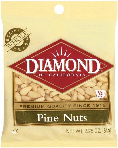 [Diamond Nuts Pine Nuts, 2.25 Ounce Bag] (California Nuts)