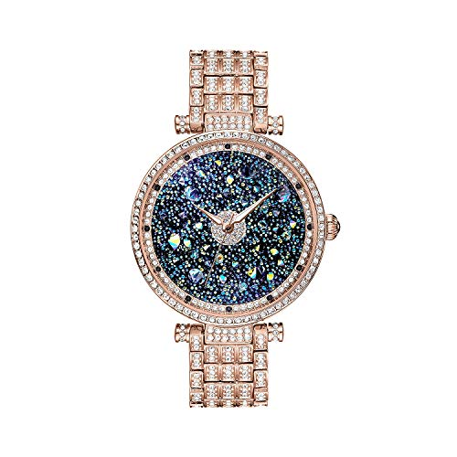 Princess Butterfly Lady Watch Full Of Austria Crystal HL639P Rose Gold ()