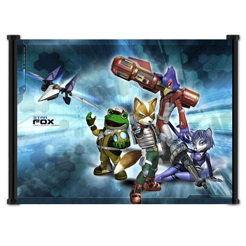 (Star Fox Game Fabric Wall Scroll Poster (21