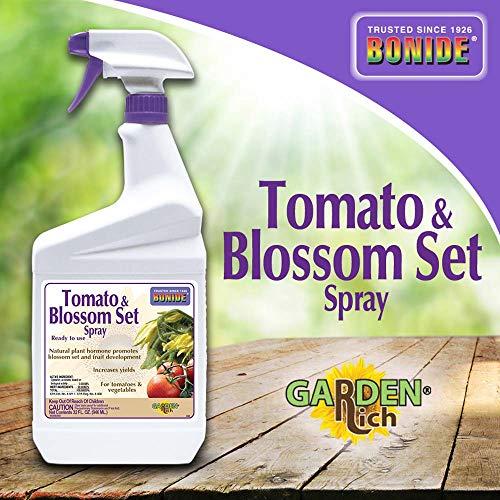 Bonide (BND544) - Ready to Use Tomato and Blossom Set Spray, Plant Hormone Spray (32 oz.) (Vegetable Tomato Set Blossom & Spray)