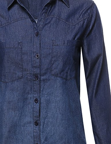 459167dcf2c Aeropost.com Costa Rica - Awesome21 Womens Casual Relaxed Fit Button Down  Collar Denim