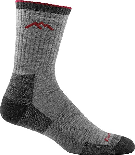 Darn Tough Men's Merino Wool Hiker Micro Crew Cushion Sock (Style 1466) - 6 Pack (Charcoal, Large) by Darn Tough