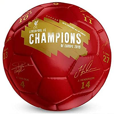 Liverpool FC Champions of Europe Football Signature Soccer Ball