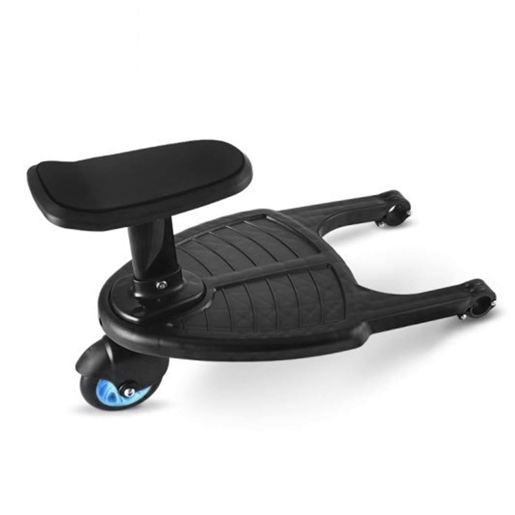 Faltbares Buggyboard mit sitz universal Sitz Abnehmbar und Zusammenbauen Blaues Rad MIsha Strapazierf/ähiges Kunststoff Buggy board Kiddy board mit sitz universal