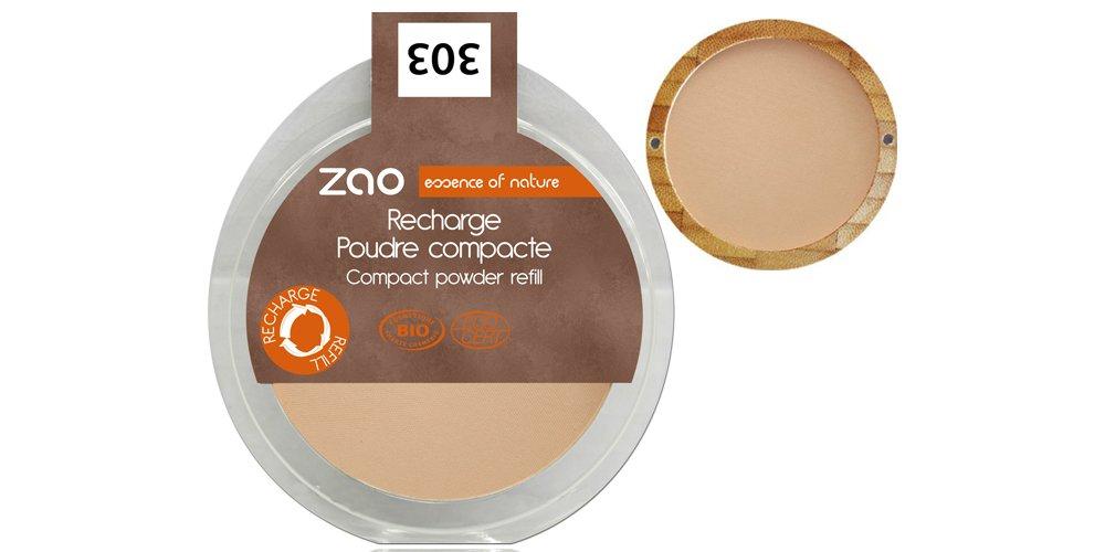 Zao - Recharge Poudre Compacte Bio / 9 Gr - Couleur : Chocolat Au Lait n°305