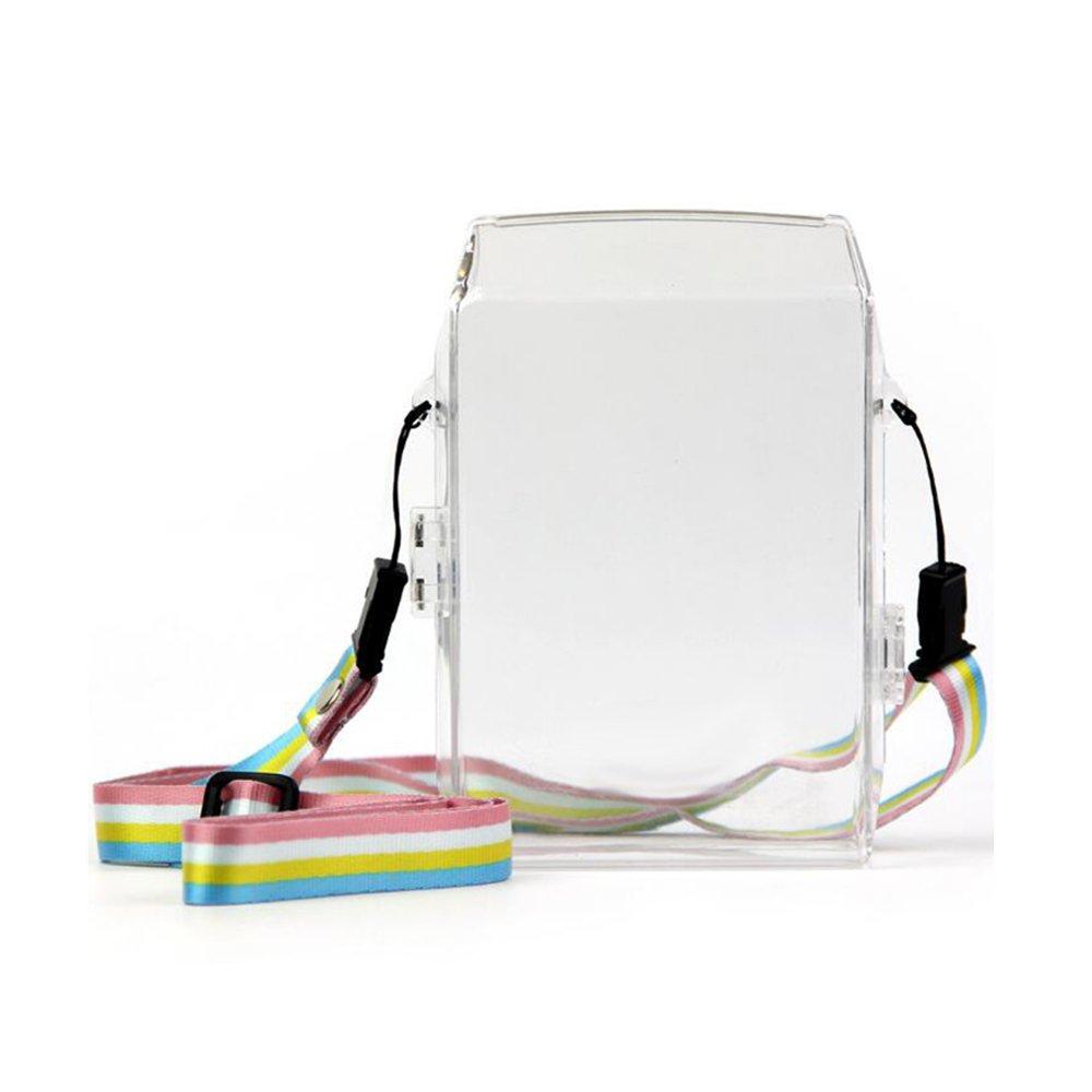É tui PVC JXE transparent avec bandouliè re pour imprimante Fujifilm Instax Share SP-2 pour smartphones. EU-CPT0380