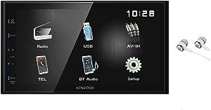 "Kenwood DMX110BT 6.8"" Double-Din Touchscreen Blue key Illumination Bluetooth USB MP3 iPod iPhone AM/FM Radio Digital Media Multimedia Car Stereo Receiver w/Free ALPHASONIK Earbuds"