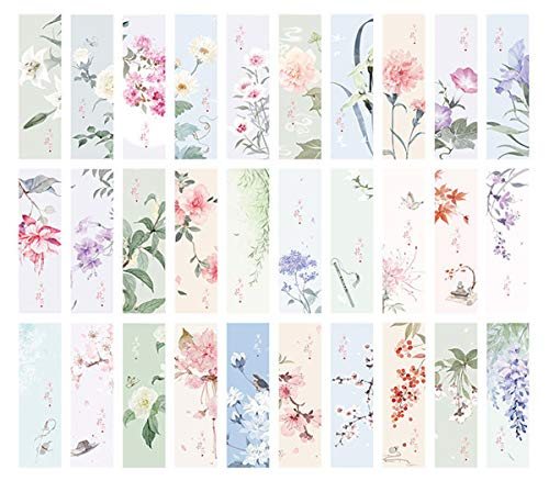 (Flower Theme Colorful Bookmarks, 30 PCS (Flower) )