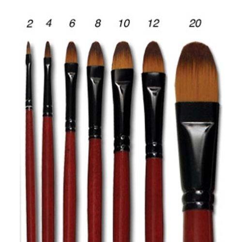 Ebony Splendor Brush Long Handle Filbert Set by Creative Mark