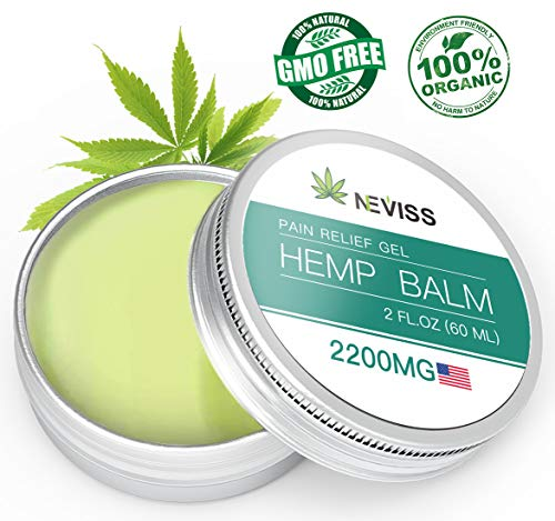 Organic Hemp Balm for Pain Relief (2200mg), Natural Hemp Pain Relief Cream for Back, Knee, Neck, Joint - Premium Hemp Herbal Extract Balm for Inflammation & Sore Muscles - Made in USA (Best Cream For Back Pain)