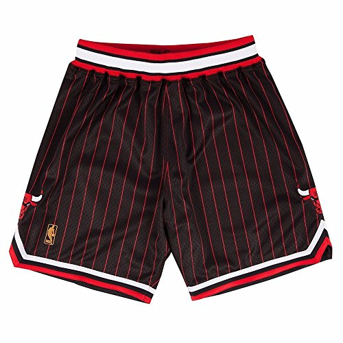 Mitchell and Ness 96-97 Chicago Bulls Mens Shorts in Black