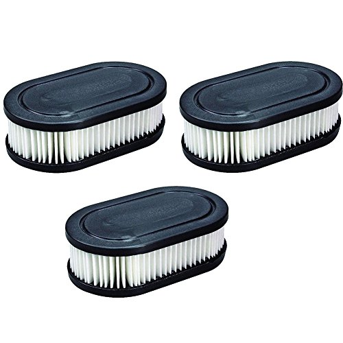 KlirAir 3PCS 798452 (593260) Air Filters Lawn Mower Air Cleaner Cartridge Replacement Fits Briggs & Stratton, Troy Bilt, Craftsman, Toro and Husqvarna