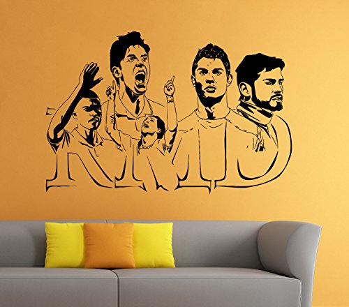 Real Madrid Stars Wall Decal Cristiano Ronaldo Pepe Kaka Casillas Vinyl Sticker Home Interior Bedroom Decor - Madrid Real Kaka