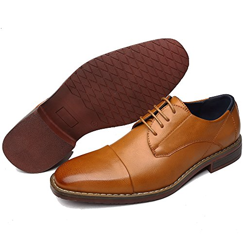 OUOUVALLEY Men's Classic Modern Oxford Wingtip Lace Dress Shoes